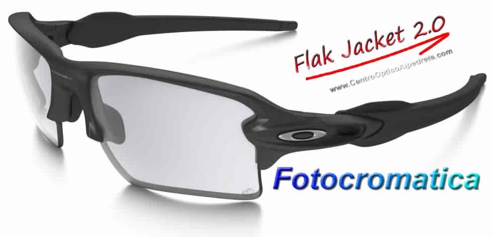 Oakley Flak Jacket 2.0 Steel / Clear Black Iridium Fotocromatica (OO9188-06)