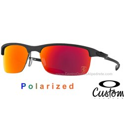 Carbon Blade Custom Matte Carbon / Ruby Iridium Polarized Ferrari (OO9174-6381)