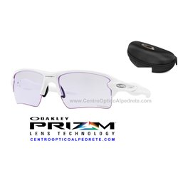 Flak 2.0 XL Polished White / Prizm Low Light (OO9188-88)