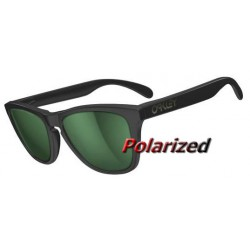 Frogskins Matte Black / Emerald Iridium Polarized (24-404)