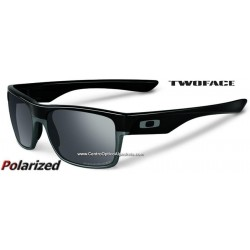 TwoFace Polished Black / Black Iridium Polarized (OO9189-01)