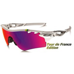 RadarLock Path TDF Polished White / OO Positive Red Iridium Polarized (OO9181-32)