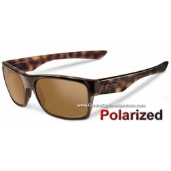 TwoFace Polished Brown Tortoise / Tungsten Iridium Polarized (OO9189-17)