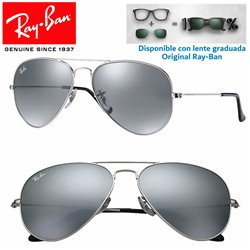 Ray-Ban Aviator Large RB3025 Silver / Grey Mirror (W3275)