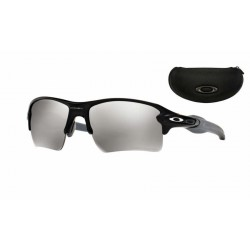 Flak Jacket 2.0 XL Matte Black / Chrome Iridium Polarized (OO9188-12)