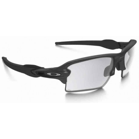 Flak Jacket 2.0 XL Steel / Clear Black Iridium Photochromic (OO9188-16)