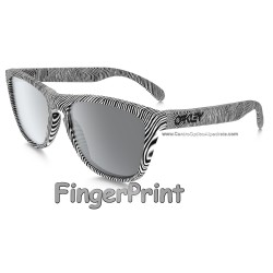 Frogskins FingerPrint Polished White / Black Iridium (OO9013-52)