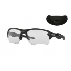 Flak Jacket 2.0 XL Polished Black / Clear Black Iridium Photochromic (OO9188-50)