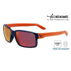 Cebe Dude Shiny Blue Orange / 1500 Grey Flash Mirror (CBDUDE2)