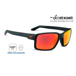 Cebe Dude Matte Grey / 1500 Grey Flash Mirror Orange (CBDUDE10)