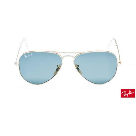 Lentes de repuesto Ray-Ban Aviator Large Metal / Lente Sky Blue Polarized (RB3025-001/3R)