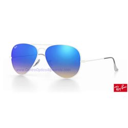 Lentes de repuesto Ray-Ban Aviator Large Metal / Lente Blue Gradient Flash (RB3025-002/4O)