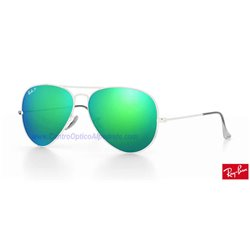 Lentes de repuesto Ray-Ban Aviator Large Metal / Lente Green Flash Polarized (RB3025-112/P9)