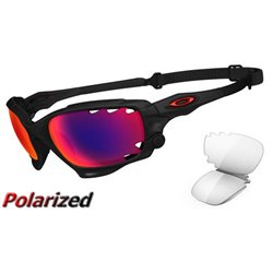 Racing Jacket Matte Black Ink / OO Red Iridium Polarized (OO9171-10)