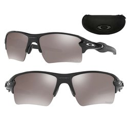 Flak 2.0 XL Polished Black Fade Ruby / Prizm Black Polarized (OO9188-72)