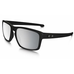 Sliver Cusomt Machinist Matte Black / Chrome Iridium Polarized (OO9262-26CP)