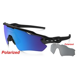 Radar EV Path Custom Polished Black / Prizm Sapphire Polarized + Black Polarized