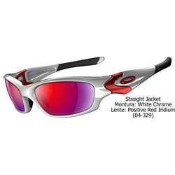 Straight Jacket White Chrome / Positive Red Iridium (04-329)