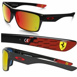 TwoFace Ferrari Polished Black / Ruby Iridium (OO9189-36)