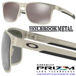 Holbrook Metal Satin Chrome / Prizm Black Polarized (OO4123-09)