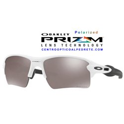 Flak 2.0 XL Polished White / Prizm Black Polarized (OO9188-81)