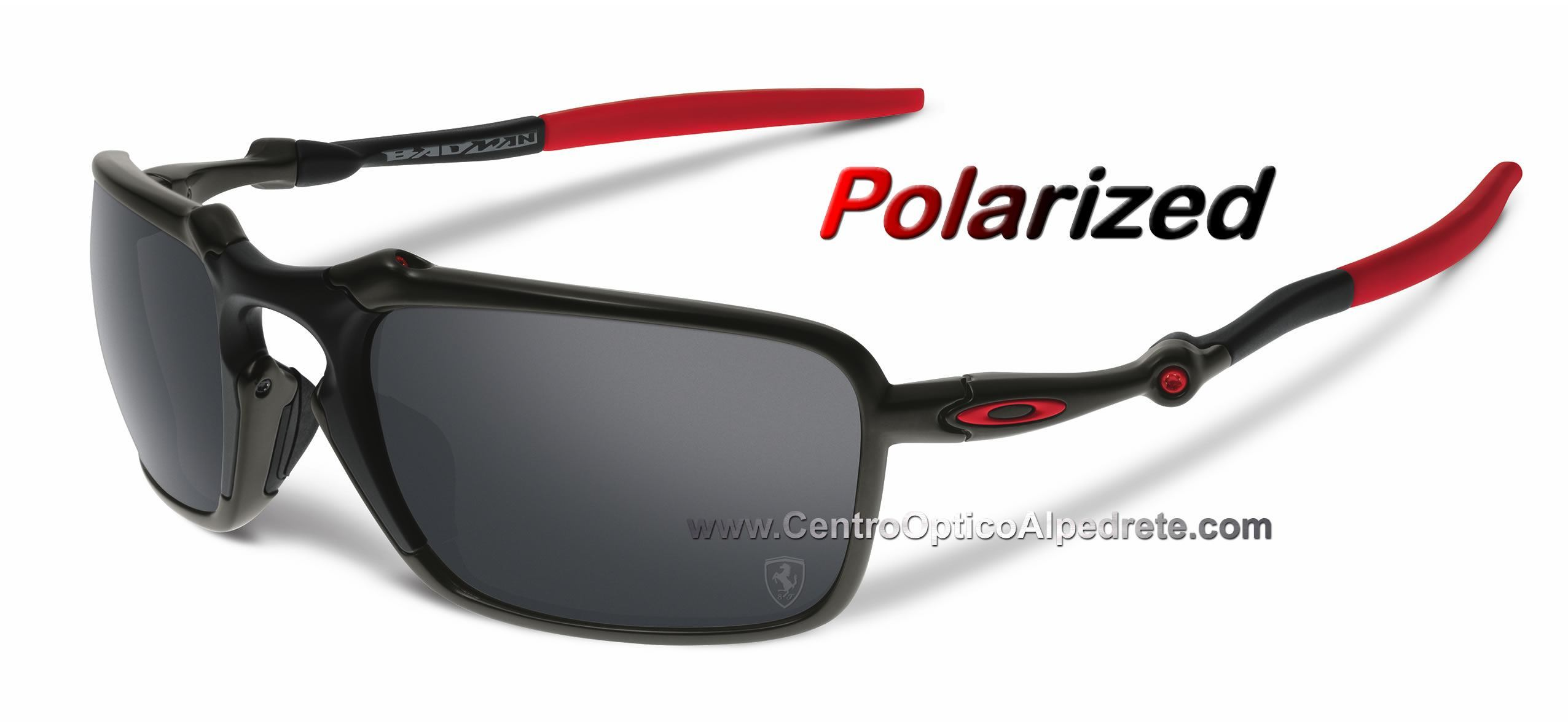 726b5c2856 Oakley BadMan Dark Carbon / Black Iridium Polarized (OO6020-07) Edicion  Ferrari