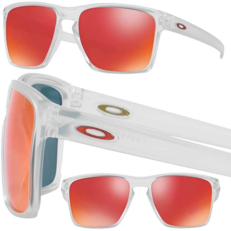 6f6ef8d6b7 Oakley Sunglasses Sliver XL Matte Clear   Torch Iridium (OO9341-09)