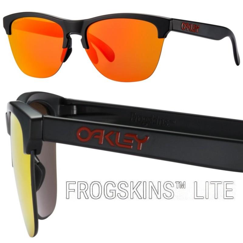 40429d708fd Gafa de sol Oakley Frogskins Lite Black Prizm Ruby OO9374-042 ...