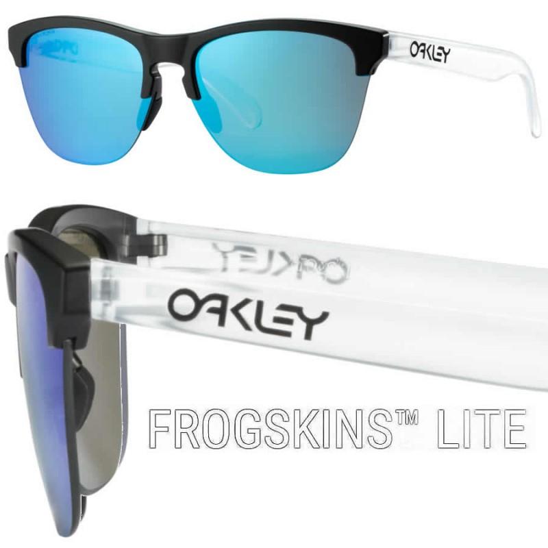 9453c97cc39 Sunglasses Frogskins Lite Matte Black   Prizm Sapphire (OO9374-02)