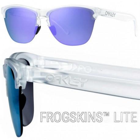 Frogskins Lite Matte Clear / Violet Iridium (OO9374-03)