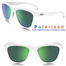 MoonLighter Polished White / Jade Iridium Polarized (OO9320-06)