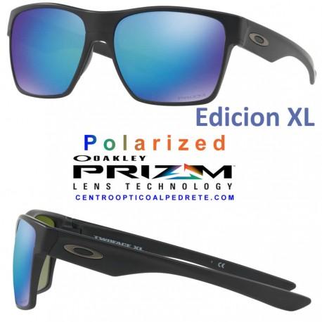TwoFace XL Matte Black / Prizm Sapphire Polarized (OO9350-09)
