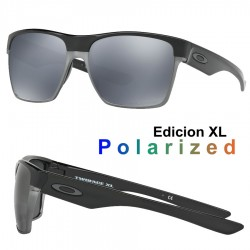 TwoFace XL Polished Black / Black Iridium Polarized (OO9350-01)