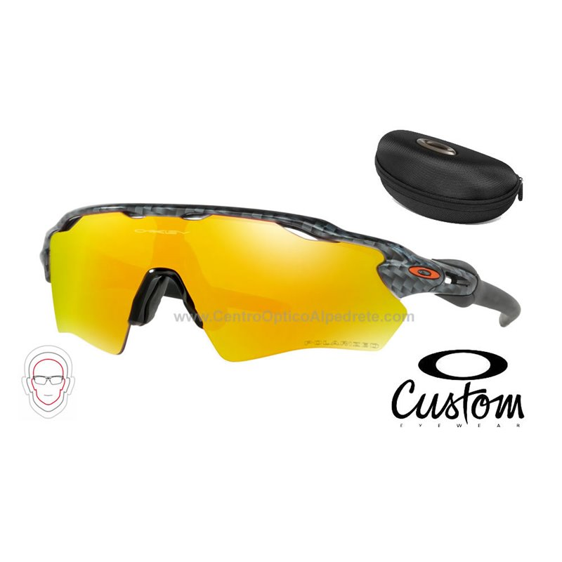 98d26d10dcf Sunglasses Oakley Radar EV XS Custom Path Carbon Fiber   Fire Iridium  Polarized (OJ9001-6447)