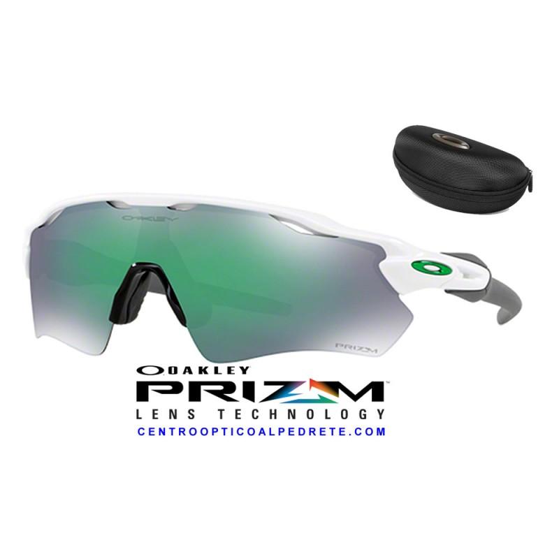 2004cb4a2a Sunglasses Oakley Radar EV Path Polished White   Prizm Jade (OO9208-71)