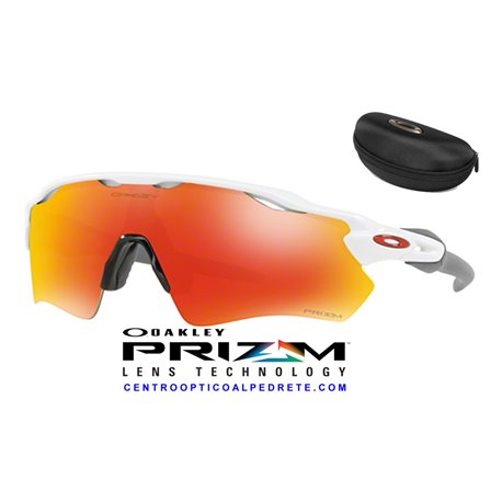 8af188a6ef Sunglasses Oakley Radar EV Path Polished White   Prizm Ruby (OO9208-72)