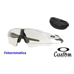 Radar EV Custom Path Polished White / Clear Black Iridium Photochromic (OO9208-6489)