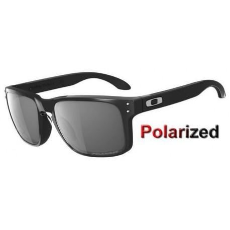 Holbrook Polished Black / Grey Polarized (OO9102-02)