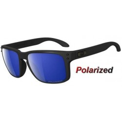 Holbrook Matte Black / Ice Iridium Polarized (OO9102-52)
