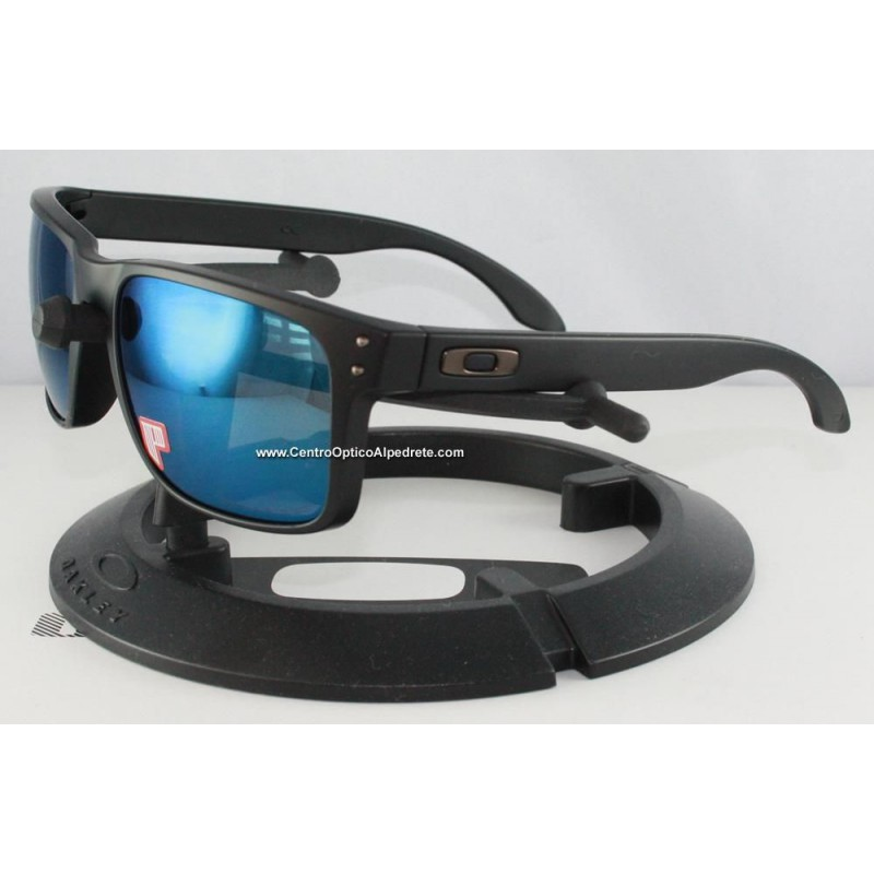 2fa51a46a2 Sunglasses Holbrook Matte Black   Ice Iridium Polarized (OO9102-52 ...