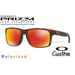 Holbrook Custom Matte Brown Tortoise / Prizm Ruby Polarized (OO9102-6537)