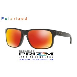 Holbrook Polished Black / Prizm Ruby Polarized (OO9102-F1)