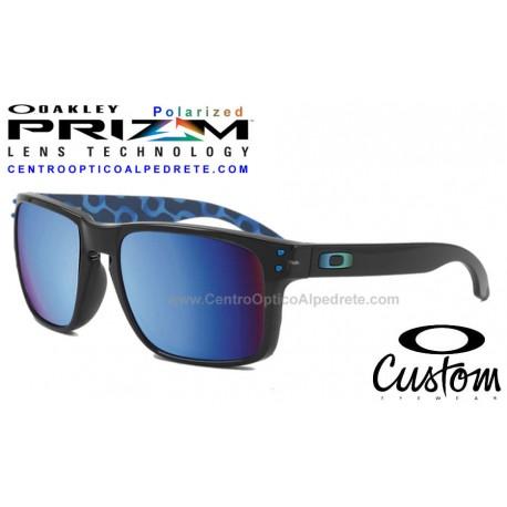 Holbrook Custom Rio 2016 Polished Black / Prizm Deep Water Polarized (OO9102-C1C)