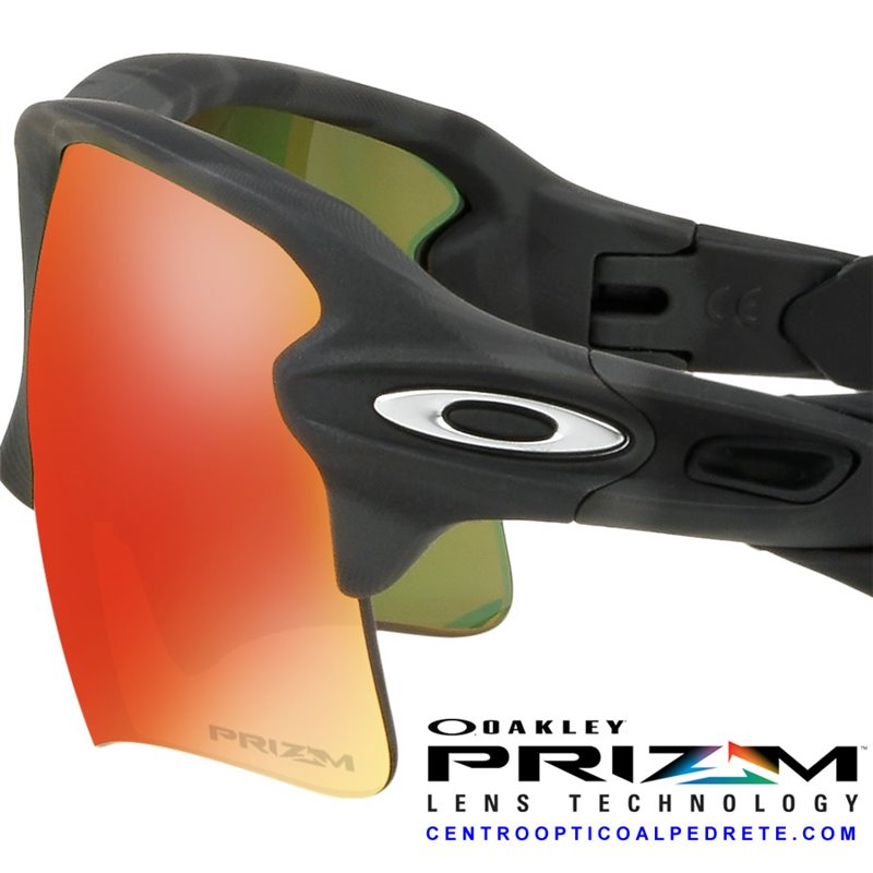 3215eb13f73ba Oakley sport sunglasses Flak 2.0 XL Black Camo   Prizm Ruby (OO9188-86)