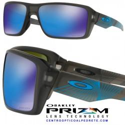 bd65eb218c7 Oakley sunglasses Double Edge Grey Smoke   Prizm Sapphire Polarized ...