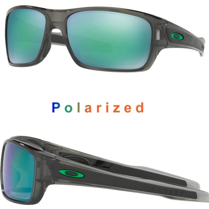 ebc0954bcfd Sunglasses Oakley Turbine Grey Smoke   Jade Iridium Polarized (OO9263-09)