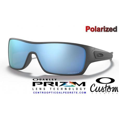 2a81d4098f6 Sunglasses Oakley Turbine Rotor Steel   Prizm Deep Water Polarized ...