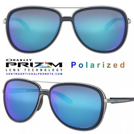 bf024c89bc Oakley Sunglasses Split Time Navy   Prizm Sapphire Polarized (OO4129-07)