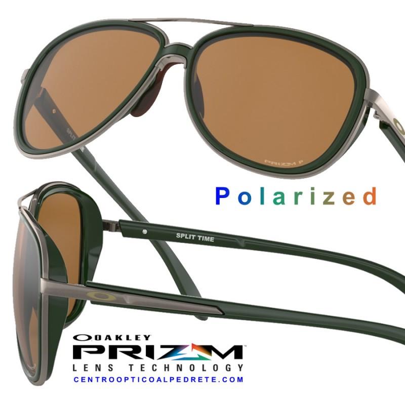 8534b430ed Oakley Sunglasses Split Time Forest   Prizm Tungsten Polarized ...