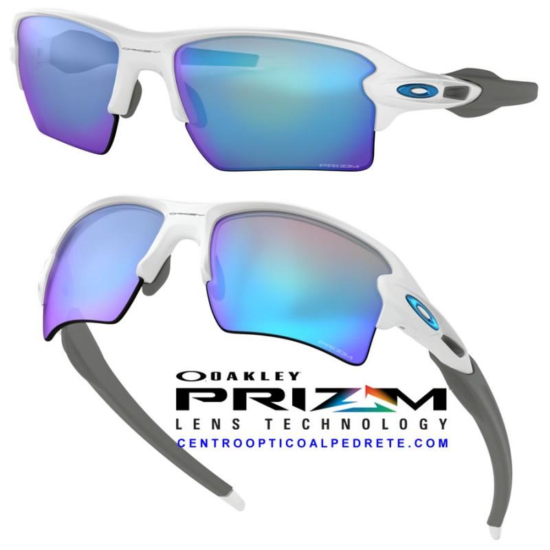 4f62d02fb9 Oakley Sunglasses Flak 2.0 XL Polished White   Prizm Sapphire (OO9188-94)